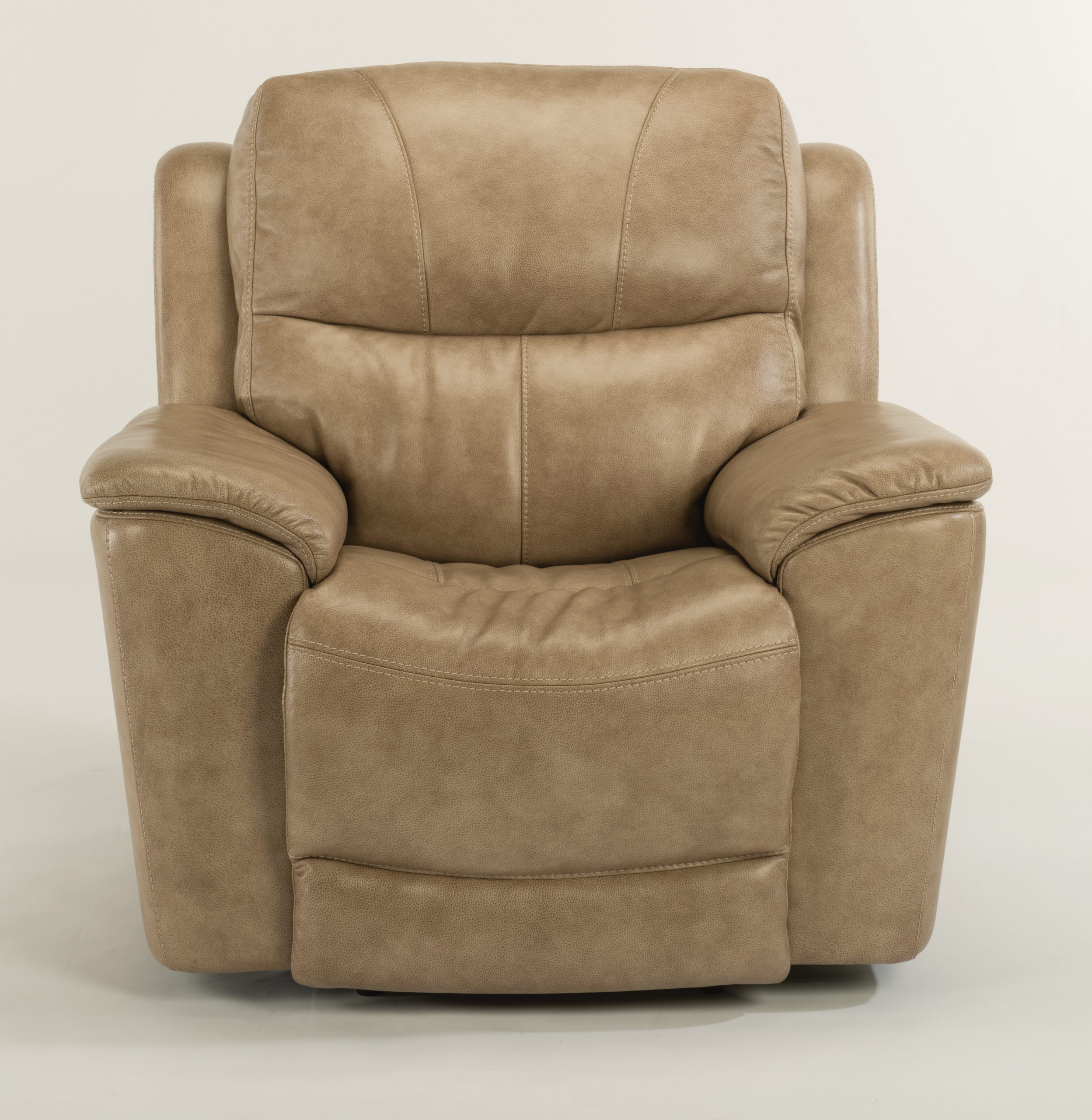 Flexsteel Cade Leather Power Recliner with Headrest and Lumbar (Recliners)