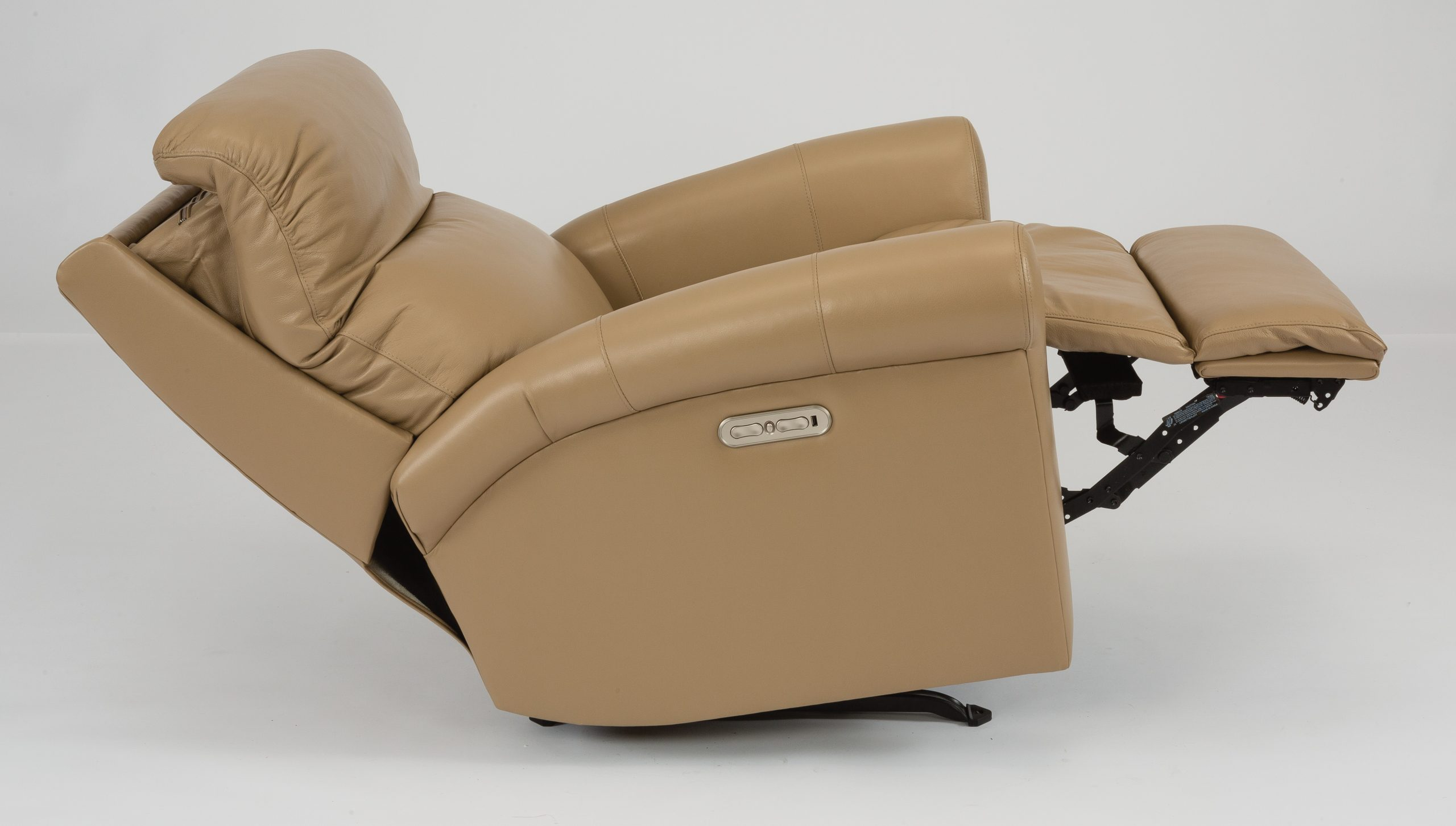 Flexsteel Davis Leather Power Recliner with Headrest (Recliner)