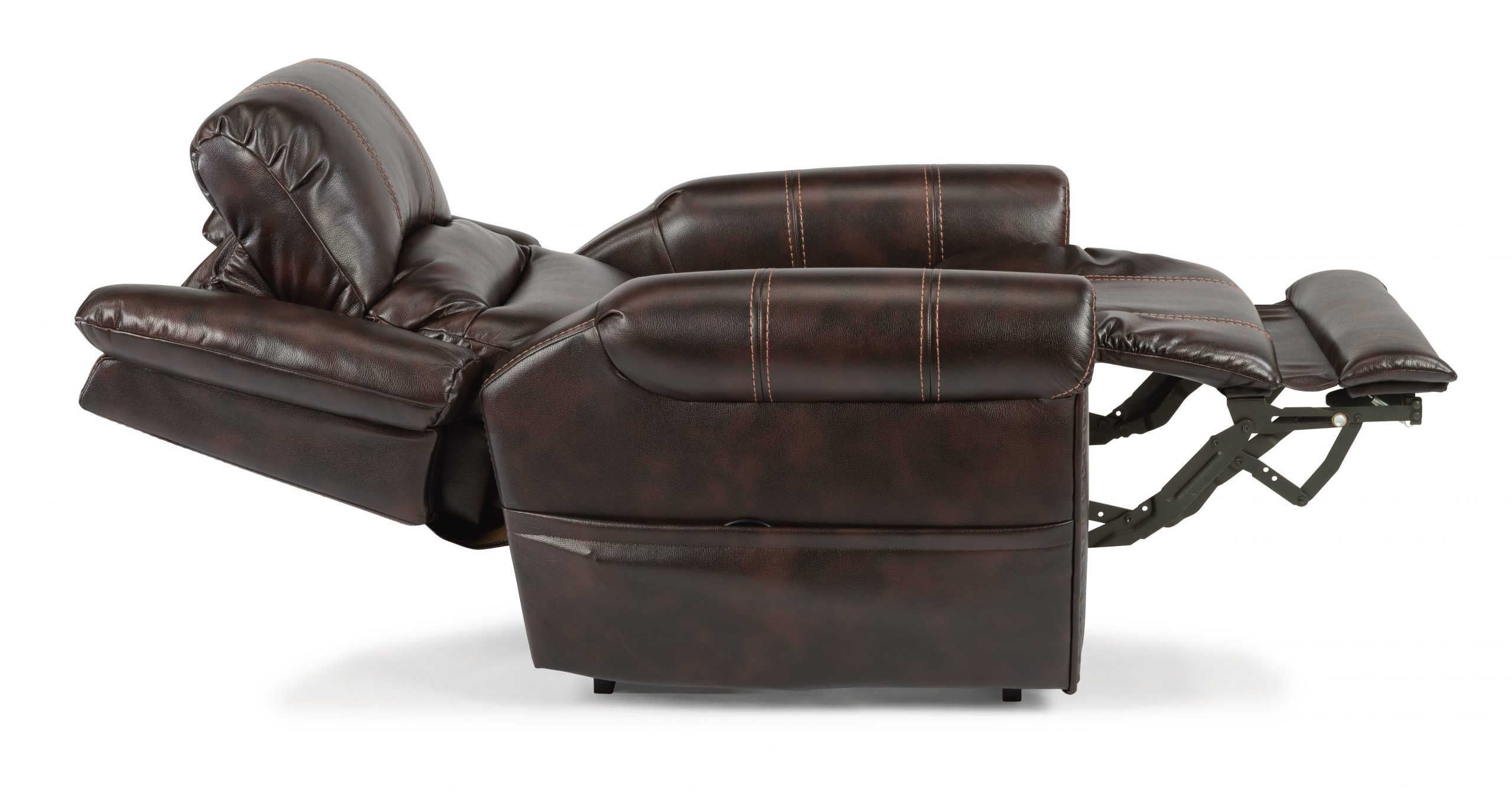 Flexsteel Oscar shown with reclining and headrest (Lift Recliner)