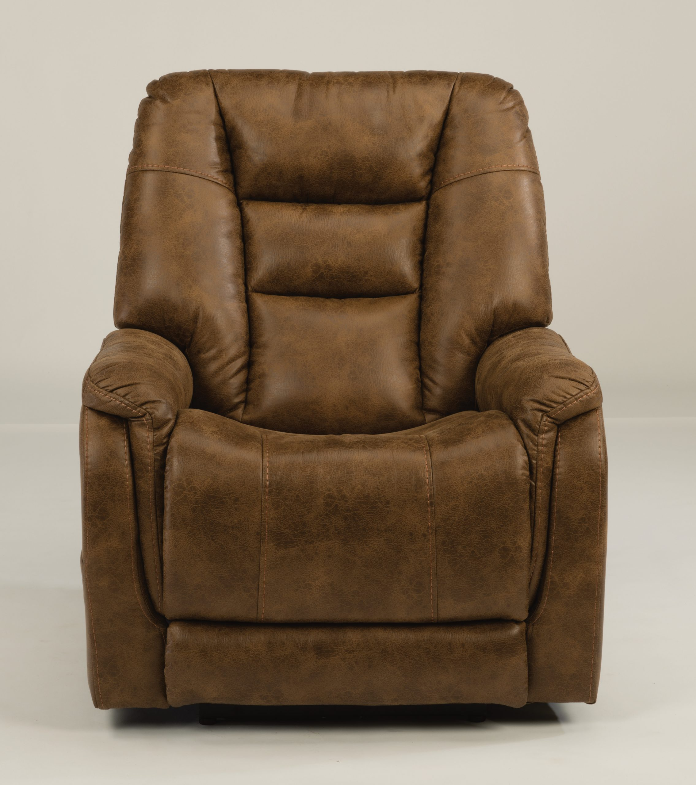 Flexsteel Theo Big and Tall Power Recliner with Headrest and Lumbar (Recliners)