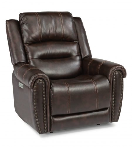 Flexsteel Oscar Power Recliner with Headrest and Lumbar (Recliners)